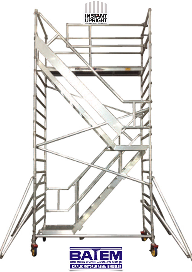 Aluminum Scaffold Stairs : Stairway professional internal stair mobile aluminum